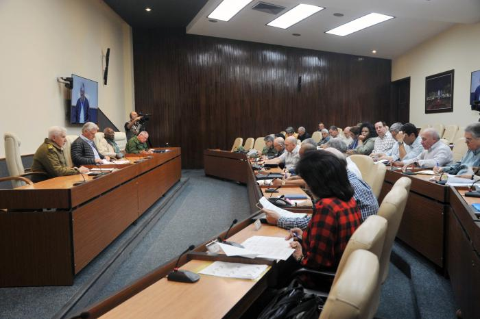 Díaz-Canel, Consejo de Ministros, tornado