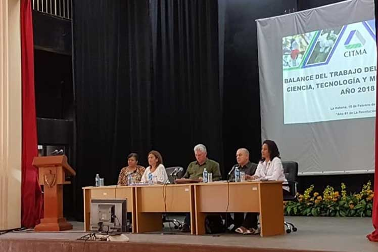 Díaz-Canel, Citma, Comunicaciones