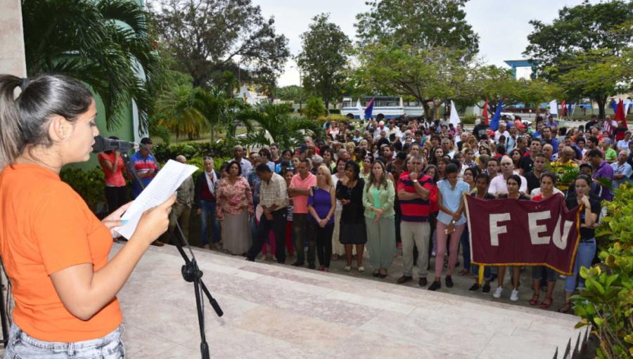 venezuela, estados unidos, injerencia, nicolas maduro, todossomosvenezuela, universidad de sancti spiritus jose marti, cuba