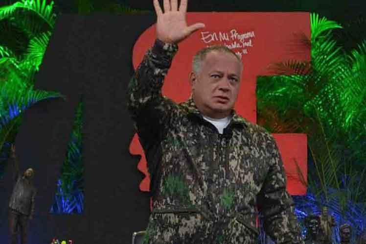 """""""Tenemos que estar unidos ante cualquier circunstancia"""", consideró Cabello. (Foto: PL)"""