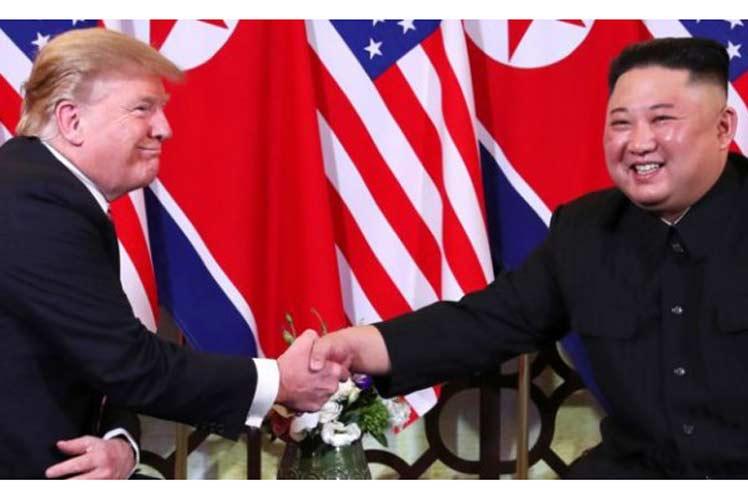 Trump y Kim dijeron sentirse optimistas respecto al desenlace de esta cita en Hanoi. (Foto: PL)