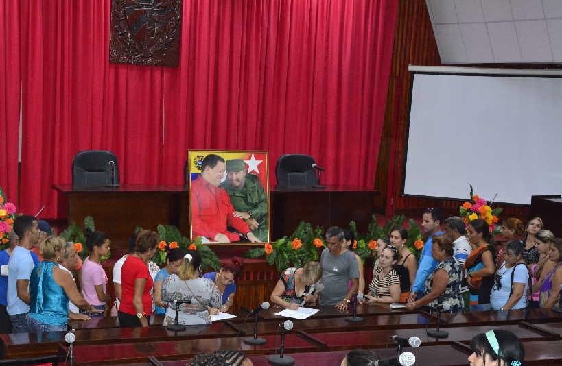 sancti spiritus, cuba, venezuela, todossomosvenezuela, injerencia, asamblea provincial del poder popular
