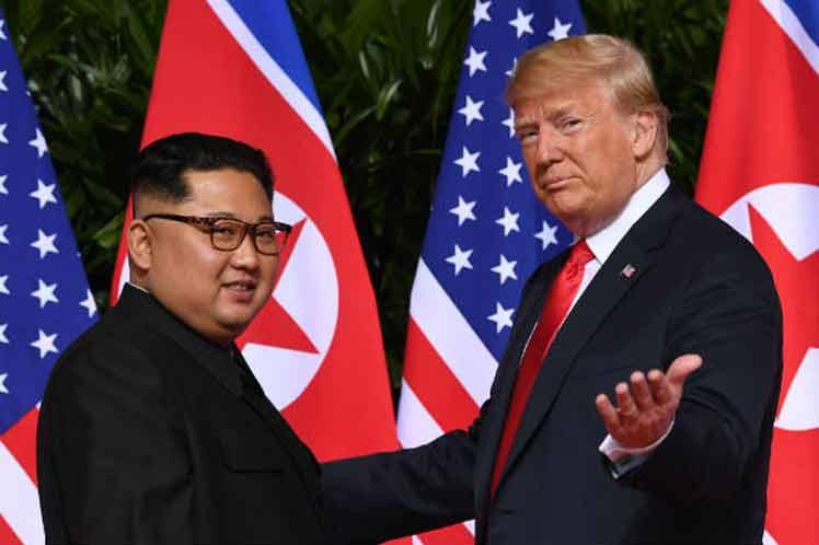 Kim y Trump tendrán un cara a cara el miércoles 27 en Hanoi. (Foto: PL)
