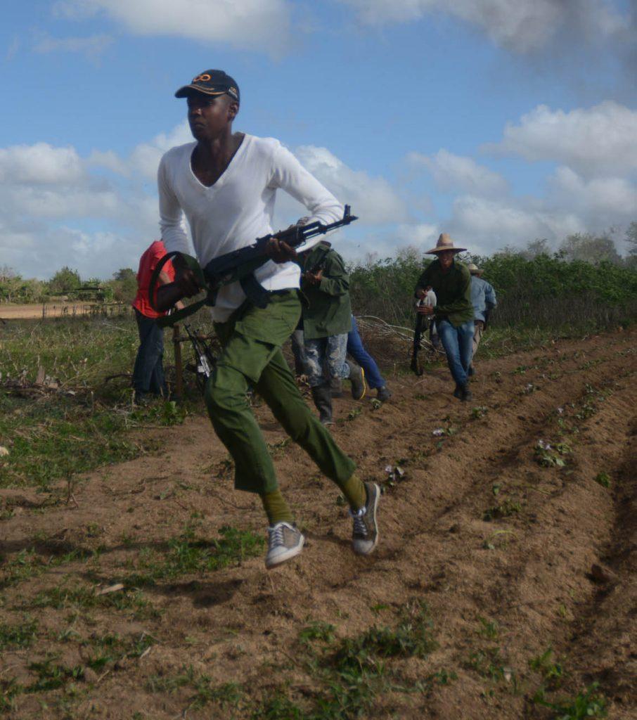 Las Brigadas de Producción y Defensa (BPD) mostraron sus habilidades en la protección de sus escenarios laborales y de servicio.