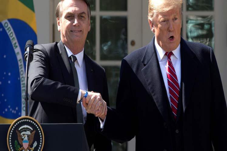 Trump y Bolsonaro conversaron sobre comercio, inversiones y la situación en Venezuela. (Foto: PL)