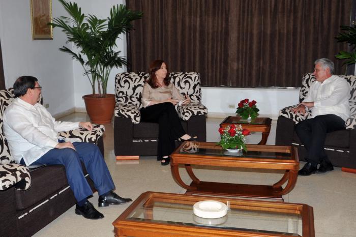 Bruno Rodríguez calificó de fraternal el encuentro entre Díaz-Canel y Fernández de Kirchner. (Foto: Estudios Revolución)