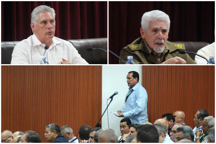 Díaz-Canel intervino en el balance anual del Ministerio de la Construcción. (Foto: PL)