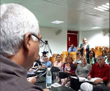 El ministro Oscar Silvera partició en el balance del sector jurídico en Sancti Spíritus. (Foto: @PilarCubaMinjus)