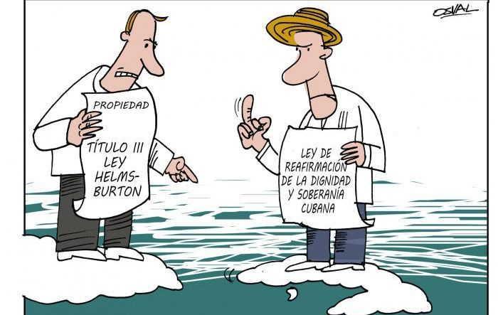 Mientras la administración de Donald Trump trata de revivir fantasmas, Cuba reafirma su postura soberana. (Caricatura: Osval)