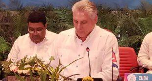 cuba, asociacion de estados del caribe, aec, cambio climatico, miguel diaz-canel, presidente de cuba