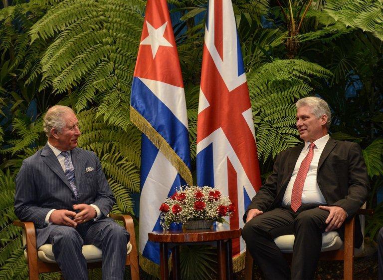 cuba, reino unido, altezas britanicas, miguel diaz-canel, presidente de cuba