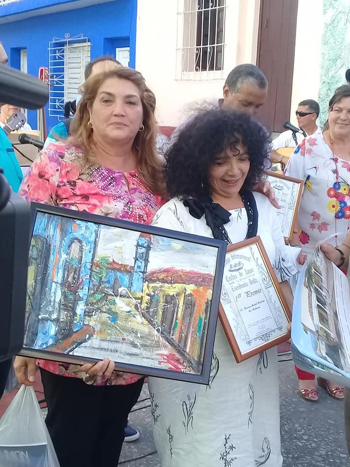 Ileana Mulet Batista, artista de la plástica, mereció el primer lugar con una sui géneris carta.