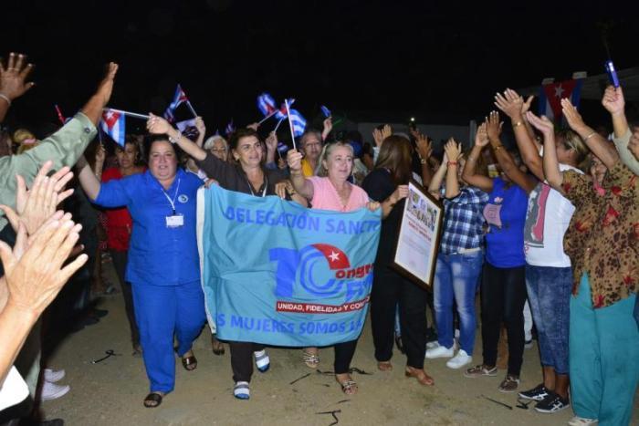 sancti spiritus, federacion de mujeres cubanas, fmc, x congreso de la fmc