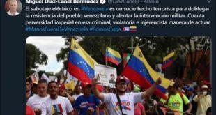 cuba, venezuela, sabotaje, electricidad, miguel diaz-canel, presidente de cuba