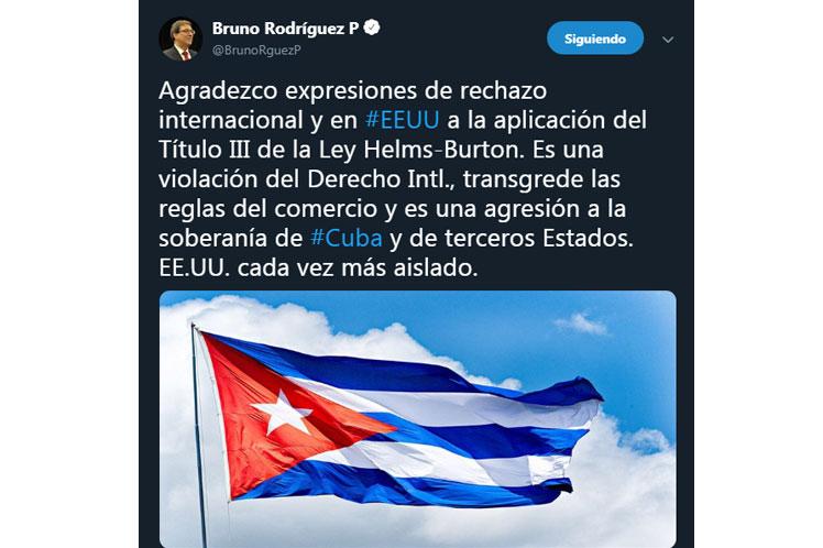 Bruno Rodríguez agradeció el apoyo internacional contra la hostilidad de EE.UU. hacia Cuba. (Foto: PL)