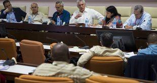 Parlamento, comisiones, Díaz-Canel