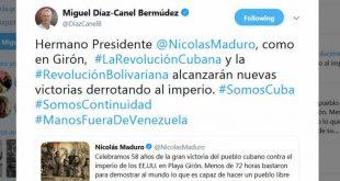 Cuba, Venezuela, Díaz-Canel, Girón, Nicolás Maduro