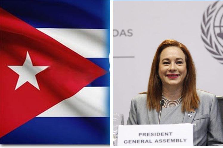 María Fernanda Espinosa se reunirá en Cuba con autoridades de la isla. (Foto: PL)