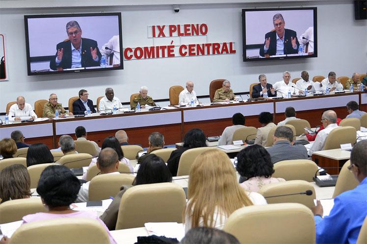 IX Pleno del Comité Central del Partido Comunista de Cuba. (Foto: ACN)