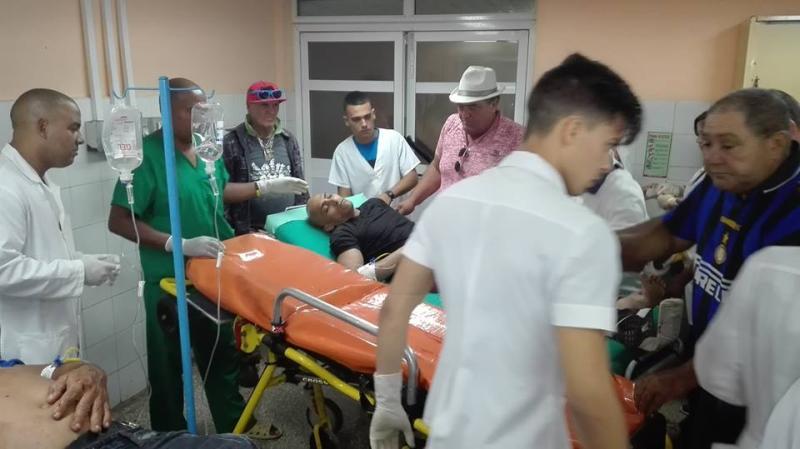 Un fallecido y ocho lesionados en accidente de tránsito en Jatibonico (+fotos)
