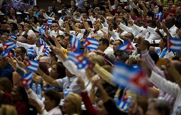 Momento de la clausura del Congreso de la CTC. (Foto: Cubadebate)