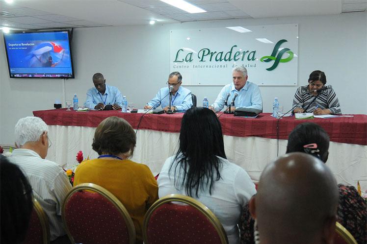 Díaz-Canel se refirió a las insatisfacciones de sus compatriotas con los resultados deportivos. (Foto: PL)