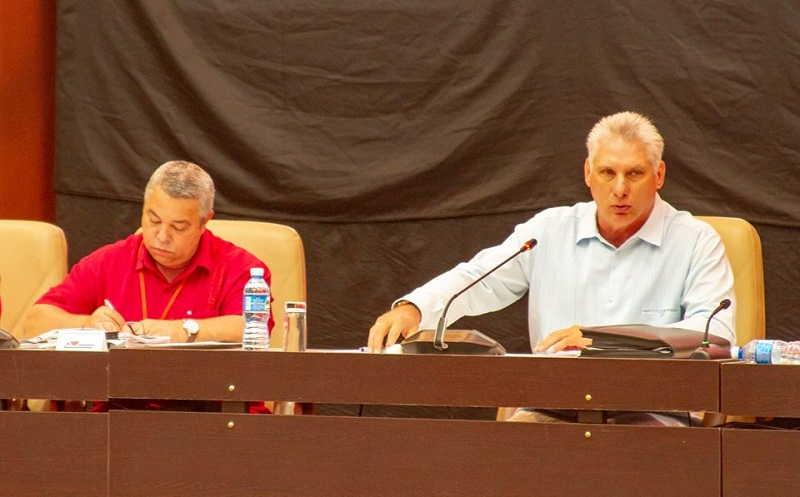 cuba, XXI congreso de la central de trabajadores de cuba, ctc, congreso de la ctc, miguel diaz-canel bermudez, presidente de cuba