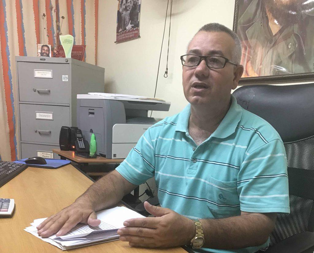 Roberto Gutiérrez Medina, director provincial de la ONAT. (Foto Dayamis Sotolongo)