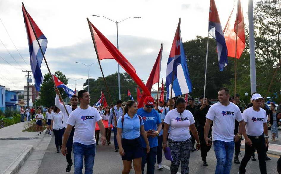 sancti spiritus, union de jovenes comunistas, ujc, 4 de abril, organizacion de pioneros jose marti, XI congreso de la ujc