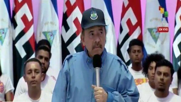 """Ortega aseveró que """"la lucha por la paz es una lucha permanente"""" ante las sanciones de EE.UU. contra naciones soberanas. (Foto: TeleSUR)"""