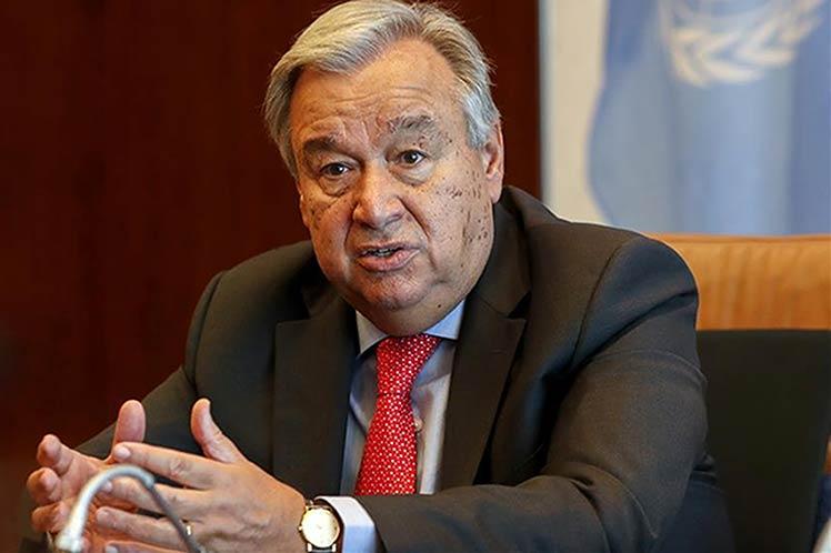 Guterres evaluó con la embajadora cubana en la ONU la aplicación de la Helms-Burton. (Foto: PL)