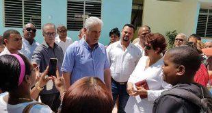 Díaz-Canel, recuperación, Tornado, La Habana