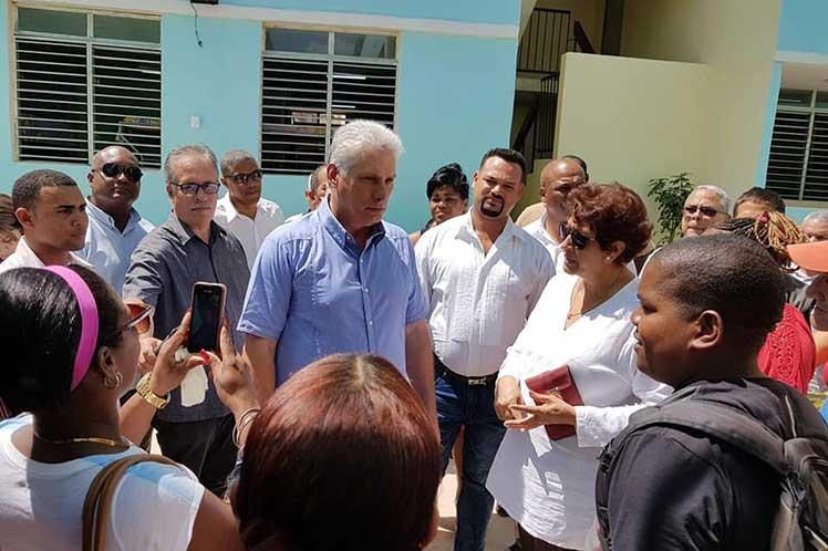 El pueblo ha sido el principal protagonista, aseguró Díaz-Canel. (Foto: PL)