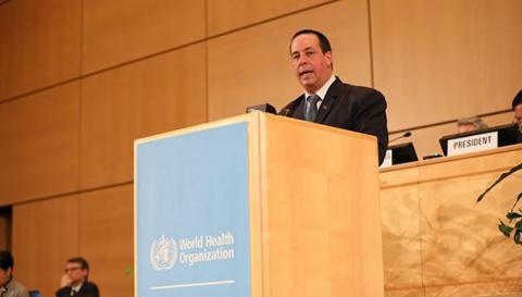 El ministro José Ángel Portal encabeza la delegación cubana a la Asamblea Mundial de la Salud, que sesiona en Ginebra. (Foto: CubaMinrex)