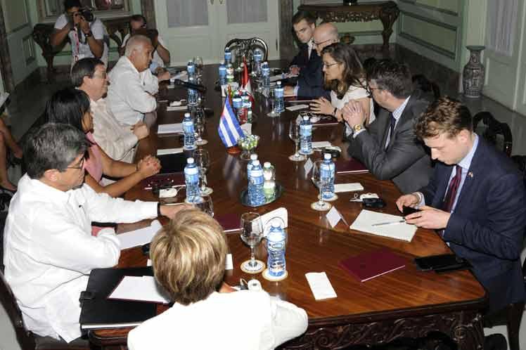 Bruno agradeció a Freeland la tradicional oposición de Canadá al bloqueo de Estados Unidos contra Cuba. (Foto: PL)