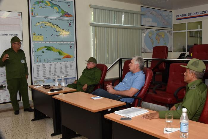 cuba, miguel diaz-canel, presidente de cuba, ejercicio meteoro 2019, desastres naturales, defensa civil