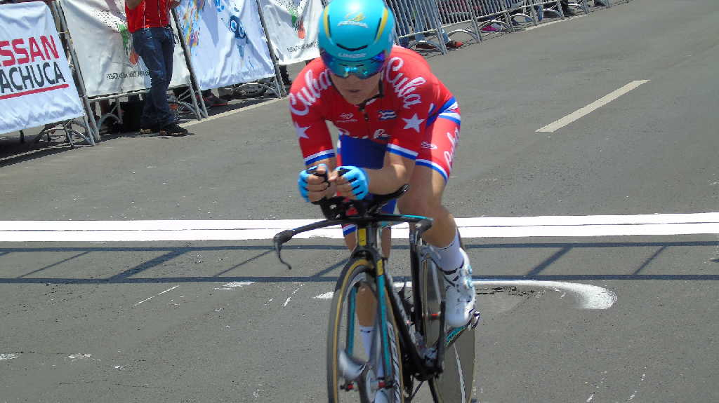 Cuban Pradera finishes third in women´s time trial