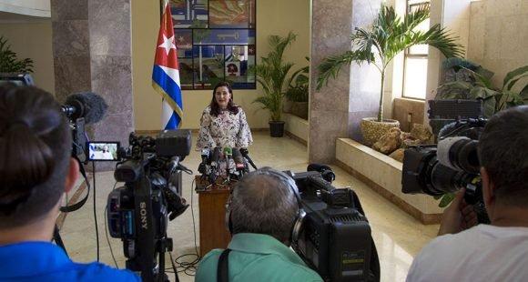 """Tablada calificó de """"irrespetuosas"""" las declaraciones del presidente Trump. (Foto: Ismael Francisco / Cubadebate)"""