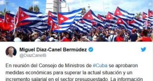 Díaz-Canel, salarios, Consejo de Ministros