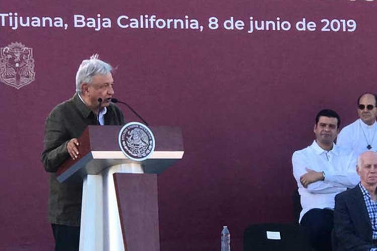 López Obrador reiteró que la única forma de solucionar el flagelo de la migración es atacando sus causas más profundas. (Foto: PL)