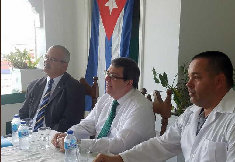 cuba, santa lucia, bruno rodriguez, colaboradores cubanos, canciller cubano