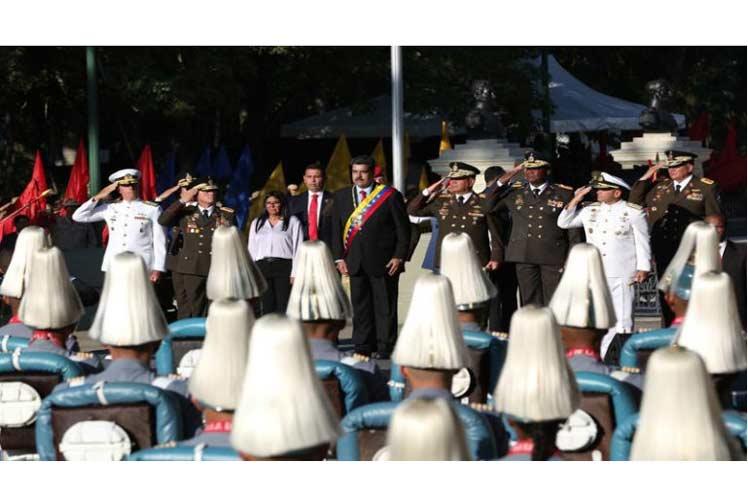 Maduro participó en los actos conmemorativos por el aniversario 198 de la Batalla de Carabobo. (Foto: PL)