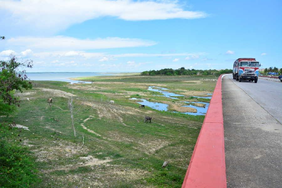 La presa Zaza, la mayor del país, manifiesta la situación más comprometida. (Foto: Vicente Brito / Escambray)
