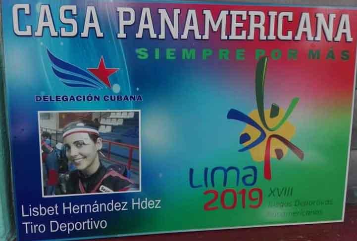 Por la vivienda de la tiradora Lisbet Hernández se inició en Sancti Spíritus la declaración de Casas Panamericanas.