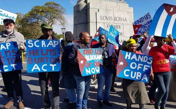 cuba, sudafrica, bloqueo de eeuu a cuba, ley helms-burton