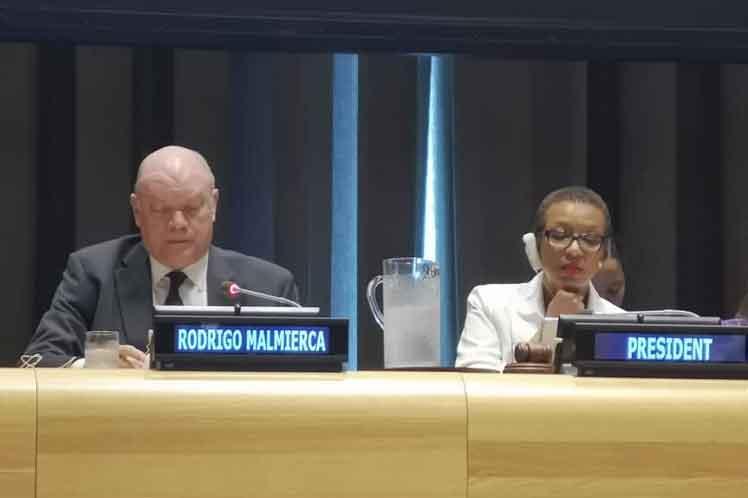 Malmierca reafirmó los compromiso de la región con la implementación de la Agenda 2030. (Foto: PL)