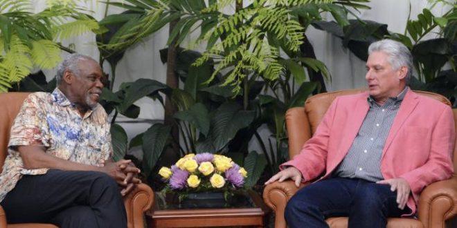 cuba, estados unidos, danny glover, presidente de cuba, miguel diaz-canel