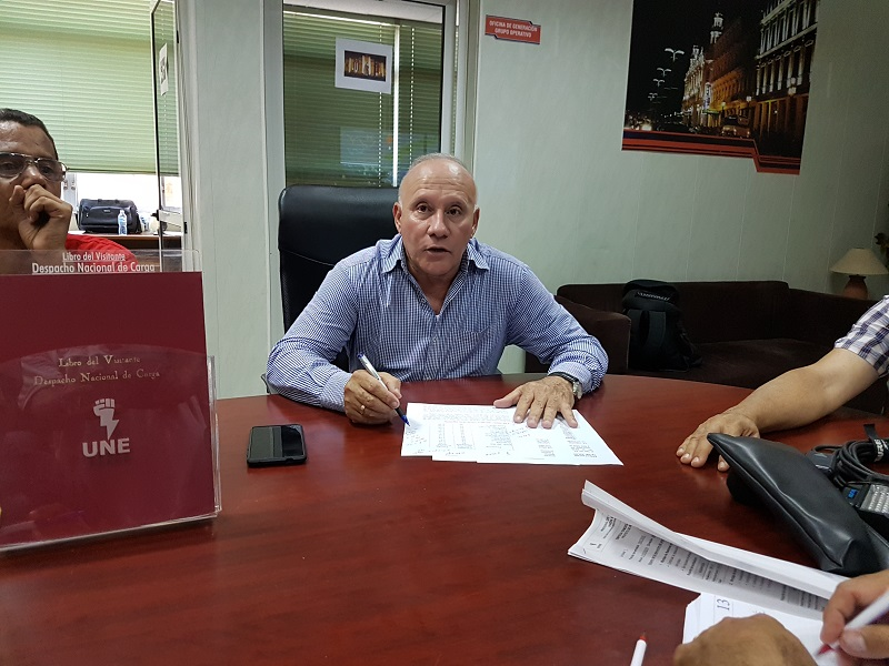 García Barreiro descartó nexos entre la situación actual del sistema  electroenergético nacional y un supuesto déficit de combustible para la generación. (Foto: Radio Rebelde)