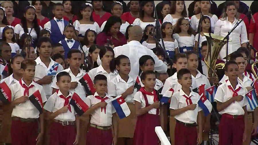 cuba, granma, 26 de julio, asalto al cuartel moncada, dia de la rebeldia nacional, miguel diaz-canel, presidente de cuba, raul castro