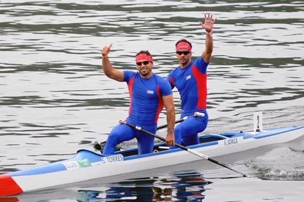 El espirituano Serguei Torres y Fernando Dayán Jorge integran la dupla insignia del canotaje.